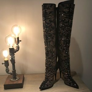 Giuseppe Zanotti Crystals High Heels Boots